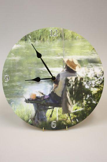 рыбацкие часы настенные